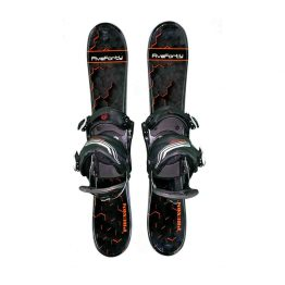 Snowblades and 2 Strap Snowboard Bindings Black and Org 75 cm 2019