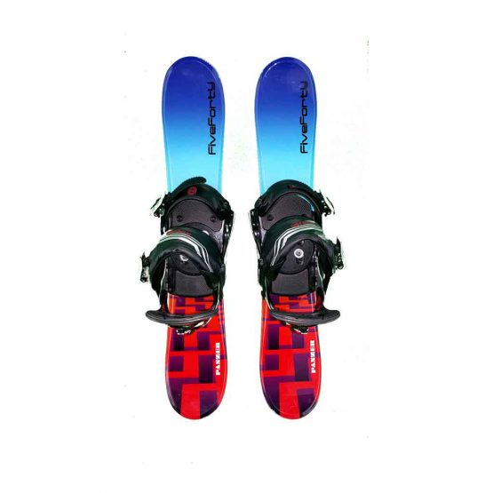 Snowblades and 3 Strap Snowboard Bindings Blue and Red 75 cm 2019
