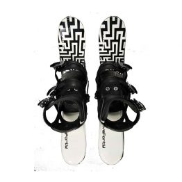Snowblades and 3 Strap Snowboard Bindings Black and White 75 cm 2020