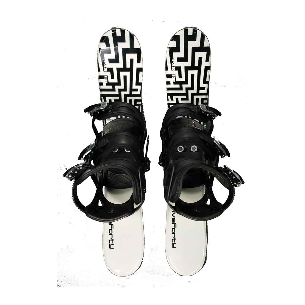 Snow Blades And 3 Strap Snowboard Bindings Panzer Black