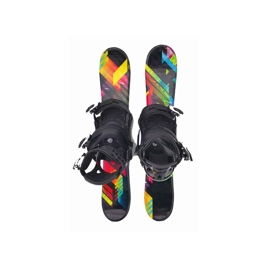 Snow Blades And Snowboard Bindings Black And Bright 75