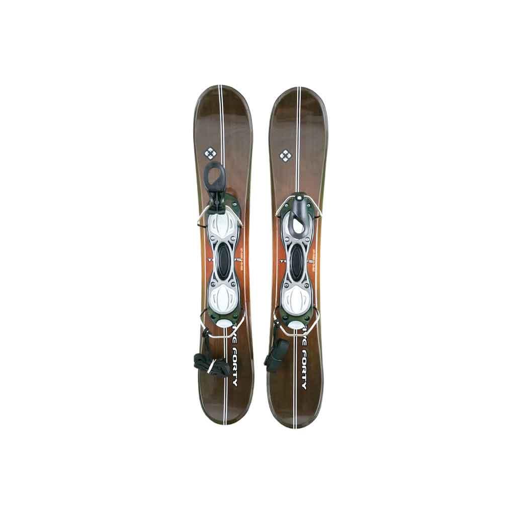 SnowBlades Titan 75 Wood Look Non Release Snowjam Ski Boot