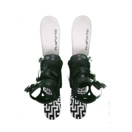 Snowblades and 3 Strap Snowboard Bindings White and Black 75 cm 2020