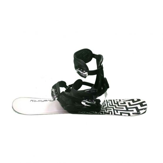 Snowblades and Snowboard Bindings with Risers White and Black 75 cm 19 -20 side