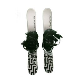 Snowblades and Snowboard Bindings with Risers White and Black 90 cm 19 -20