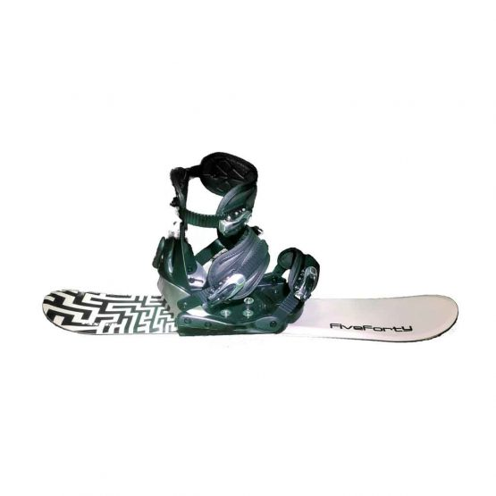 Snowblades and Snowboard Bindings with Risers White and Black 90 cm 19 -20 side