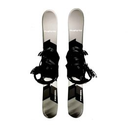 Snowblades and Snowboard Bindings Gray 90 cm 20-21