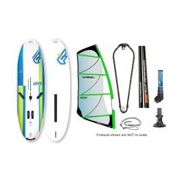 Fanatic Viper and Power Glide Windsurfing Package