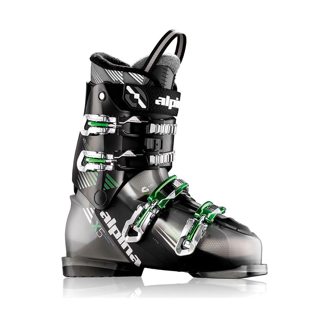 Alpina-5x Ski Boots Black Green
