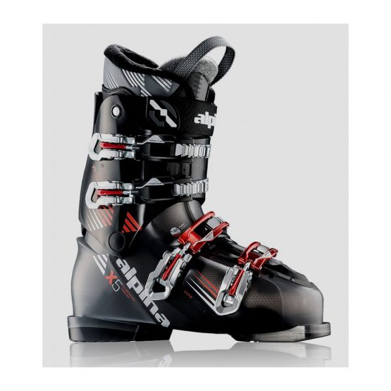 Alpina-5x Ski Boots Black Red