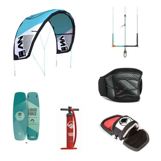 Liquid Force NV Version 9 Kite Surfing Package