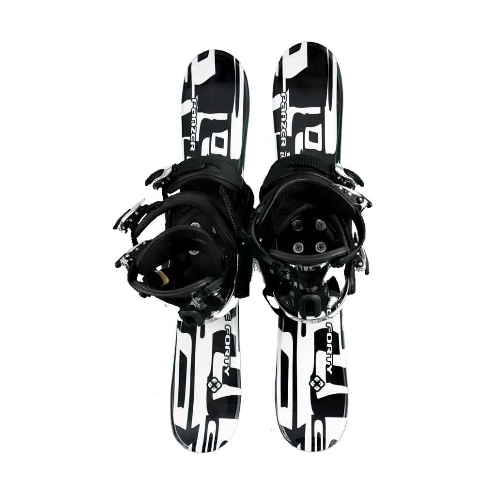 Snow Blades And Snowboard Bindings Panzer Black White 75