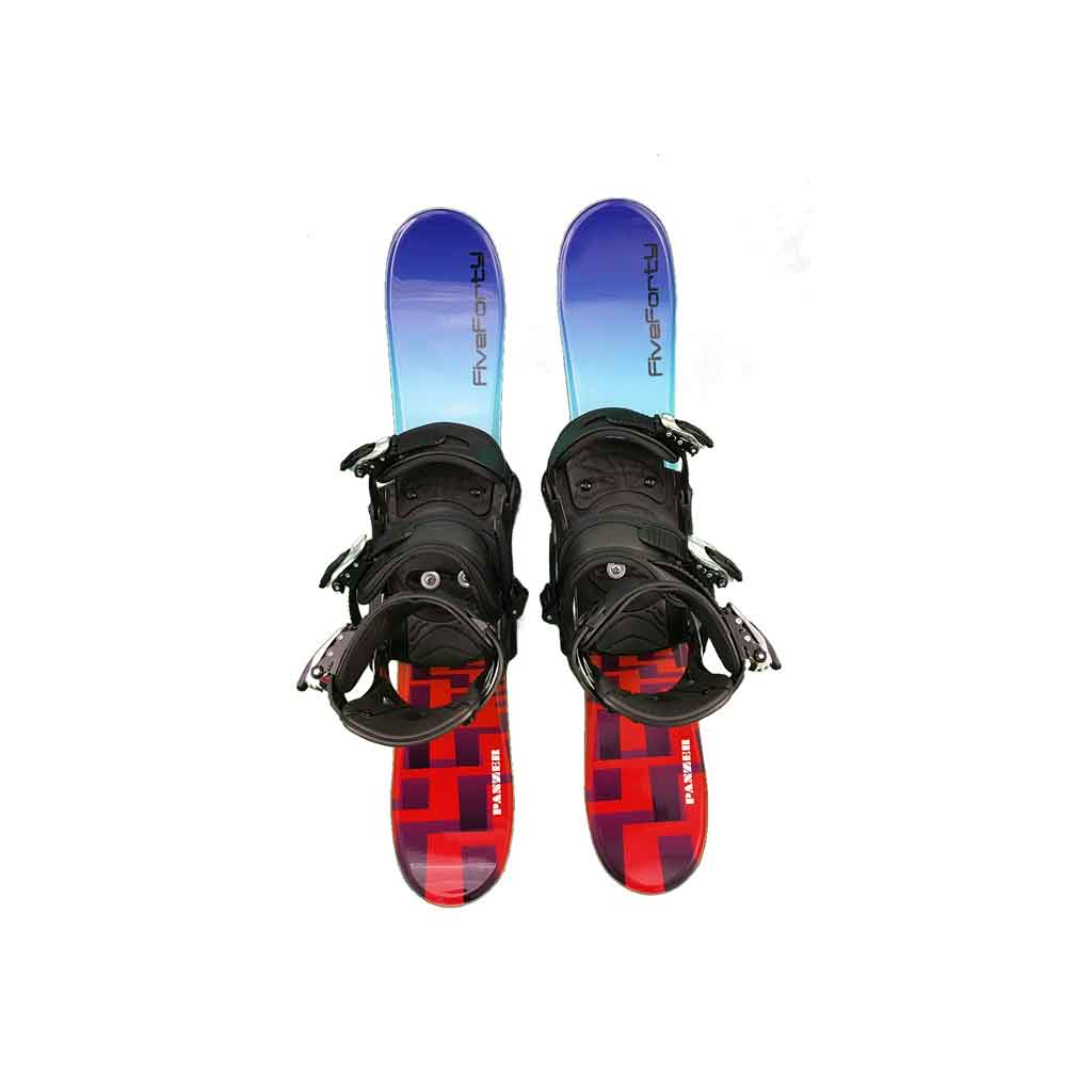 Snow Blades And Snowboard Bindings Panzer Blue 75 No Riser