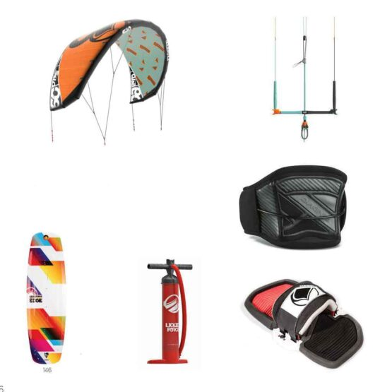 Liquid Force Solo Kite Surfing Edge Package