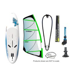 Starboard Rio Med Long Tail and Chinook 60% Carbon RDM Power Glide by Ezzy Windsurfing Package