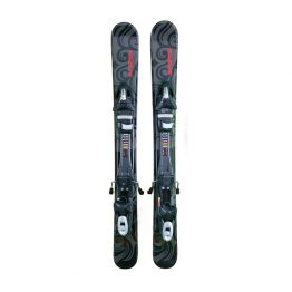 99-titan-Snow blades and Tyrolia Release Bindings black red 18