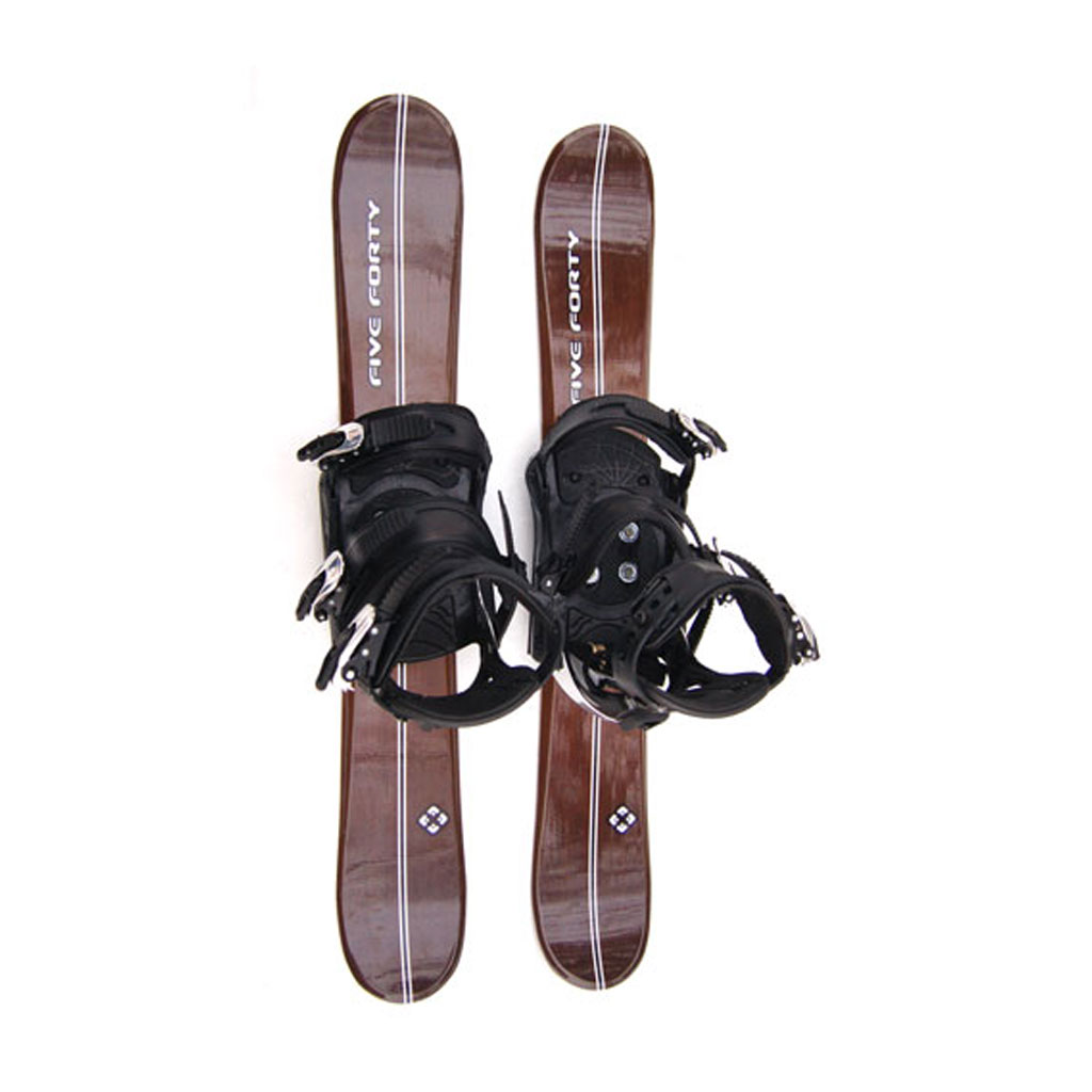 90 Cm Titan And Snowboard Bindings Wood With Risers