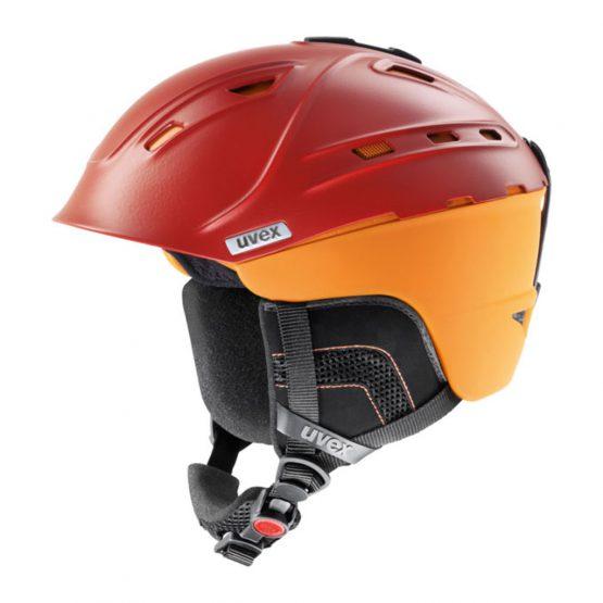 Uvex P2US Ski Snowboard Helmet Burnt Org